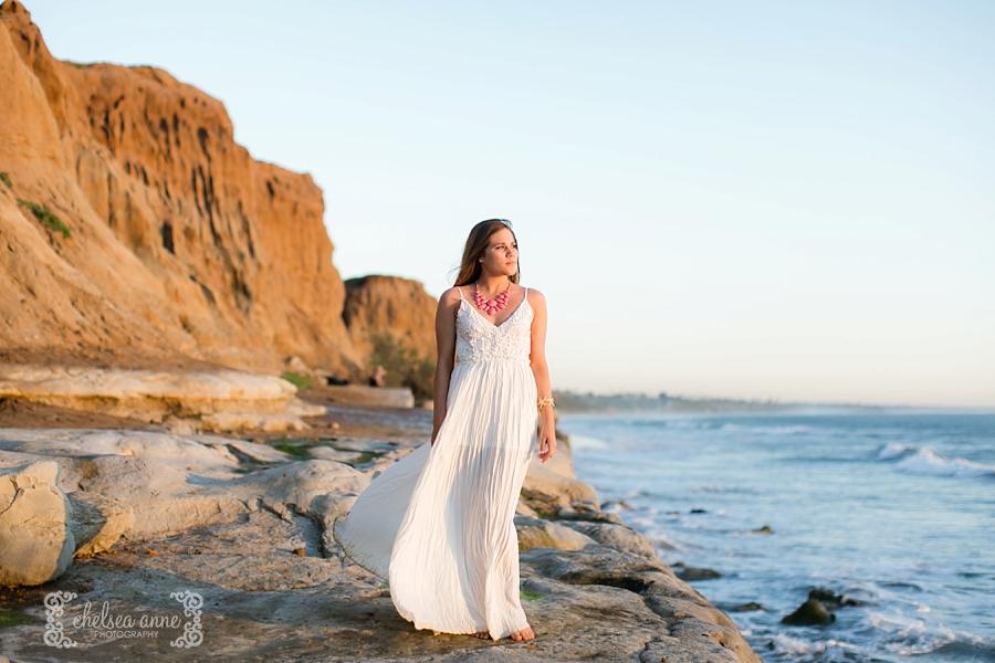senior portraits, carlsbad beach, high school portraits, beach senior photos, graduation photos, chelsea anne photography, terramar beach
